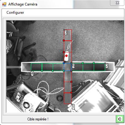 impression d'écran du logiciel Videotrack dans un +Maze avec caméra embarquée