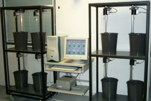 Racks of rotometer for rats